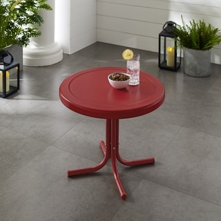 Havenside Home Retro Metal Side Table In Red