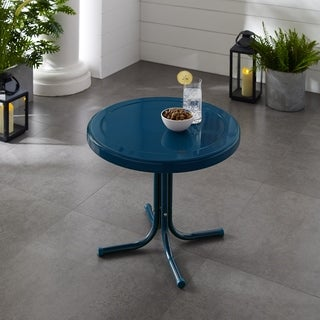 Link to Retro Metal Side Table In Navy Similar Items in Outdoor Coffee & Side Tables