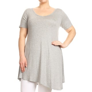 Link to Women's Solid Plus Size Casual Lightweight Relaxed Fit Tunic Top Dress Similar Items in Women's Plus-Size Clothing