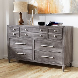 Furniture of America Hax Contemporary Grey Solid Wood Dresser
