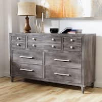 Furniture of America Kerilan Grey Wood 7-Drawer Contemporary Dresser