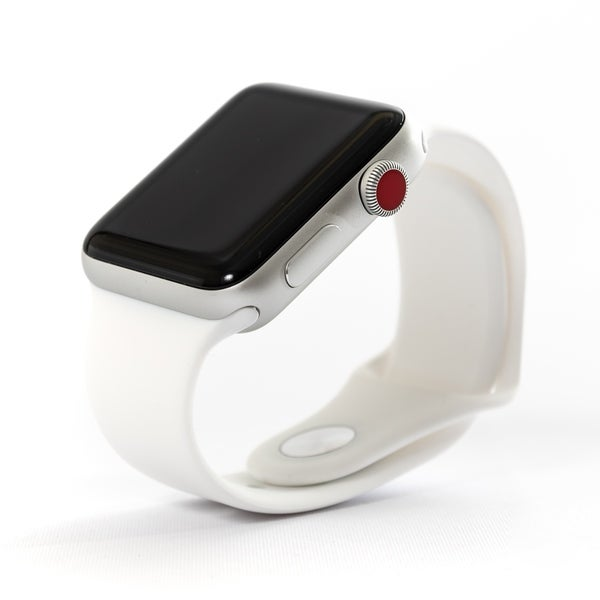 1e1df5d1e Apple Watch MTF22LL A Series 3 42mm Silver Aluminum Case White Sport Band -