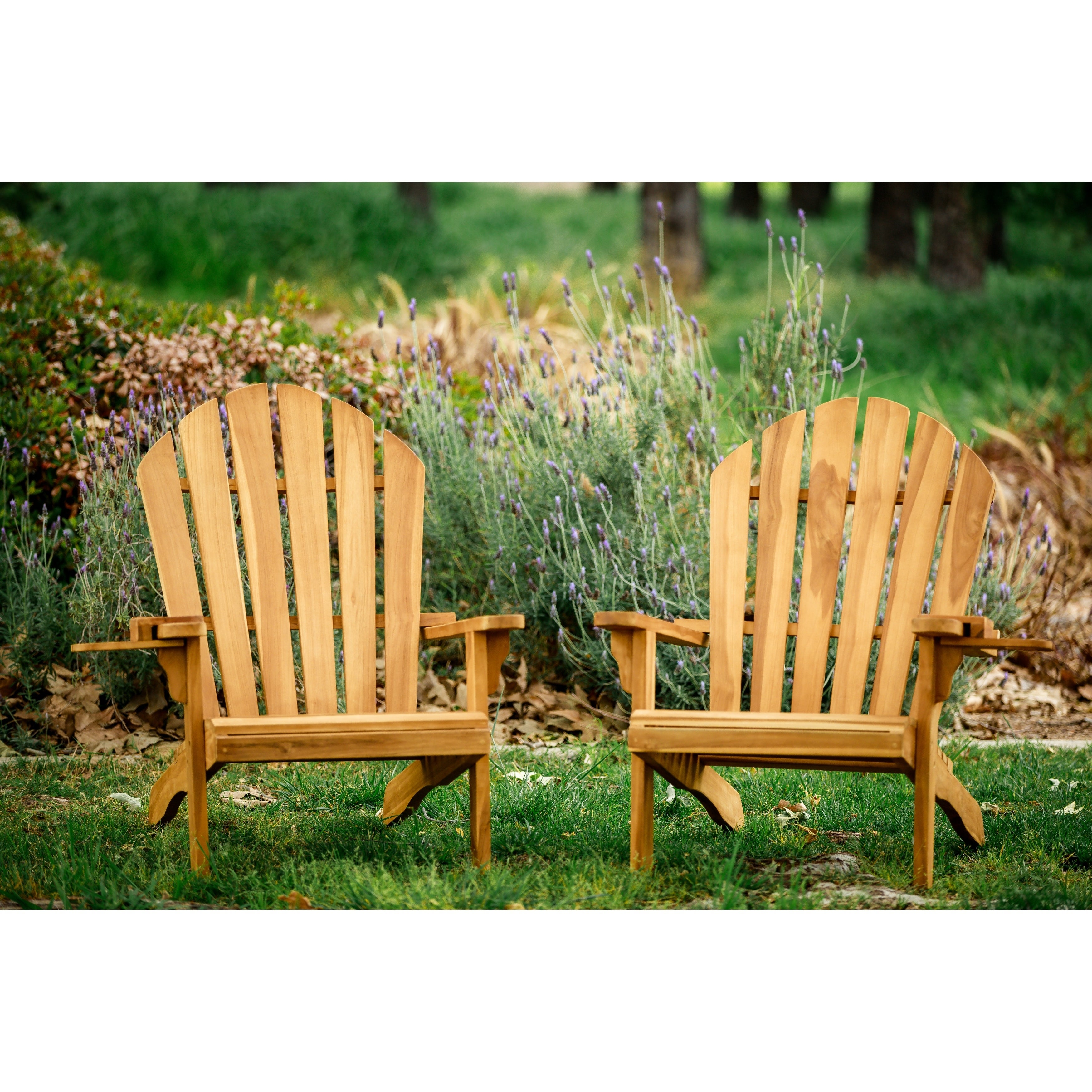 Redondo Teak Wood Adirondack Chair And Wine Holder Combo
