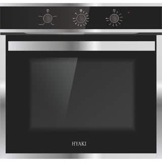 """HYAKI 24"""" 3 Cooking Functions Electric Built-in Broil Single Wall Oven"""