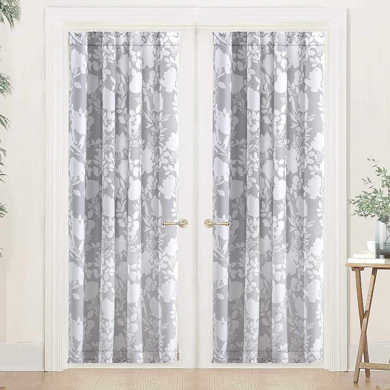 Shop Black Friday Deals On Porch Den Nolana Floral Pattern Room Darkening French Door Curtain Panel Overstock 26566790