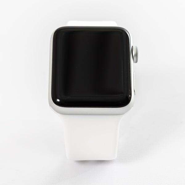 wholesale dealer 97e69 b4a3b Shop Apple Watch MTGG2LL/A Series 3 38MM Silver Aluminum Case/White ...