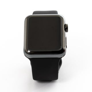 Apple Watch MQK92LL/A Series 3 42MM Space Black Stainless Steel Case/Black Sport Band - Certified Preloved