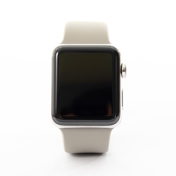 super popular 71d8c eca3c Shop Apple Watch MQK12LL/A Series 3 42MM Silver Aluminum Case/Light ...