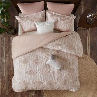 Link to The Curated Nomad Latia Blush Cotton Jacquard Duvet Cover Set Similar Items in Duvet Covers & Sets
