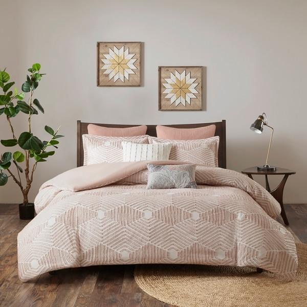 The Curated Nomad Latia Cotton Jacquard Comforter Set. Opens flyout.