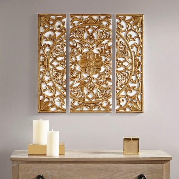 Home Design 3d Gold: Shop Madison Park Gold Medallion Gold 3 Piece Canvas Set