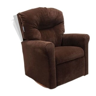 Dozydotes Contemporary Rocker Recliner in Chocolate Microsuade