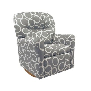 Dozydotes Contemporary Child Rocker Recliner - Freehand Storm