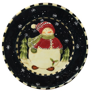 Snowman Delight Large Serving Platter