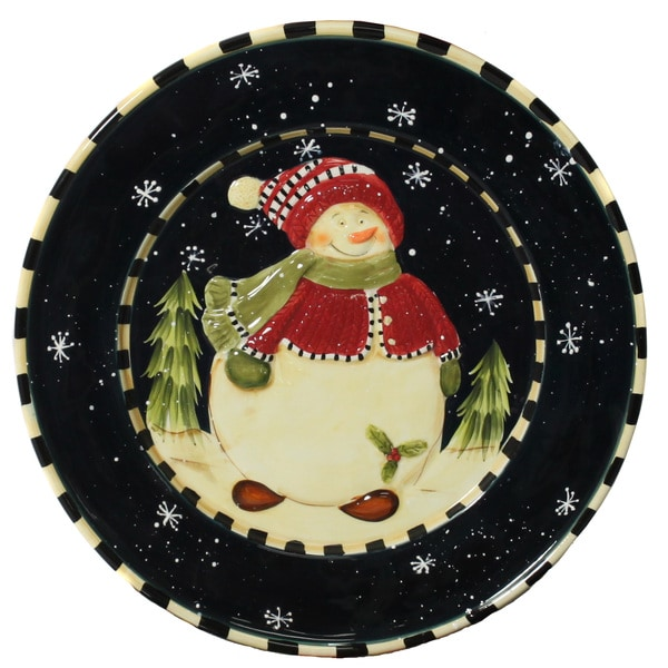 Snowman Delight Large Serving Platter Free Shipping On