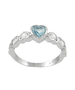 Journee Collection  Sterling Silver Heart Ring with CZ Accent