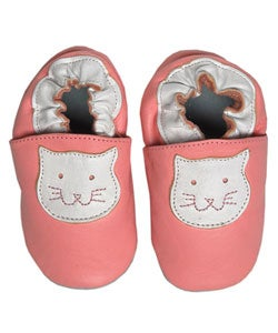 Papush Pink Cat Infant Shoes