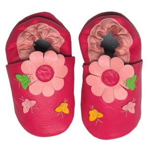 Papush Pink Flowers and Butterflies Infant Shoes