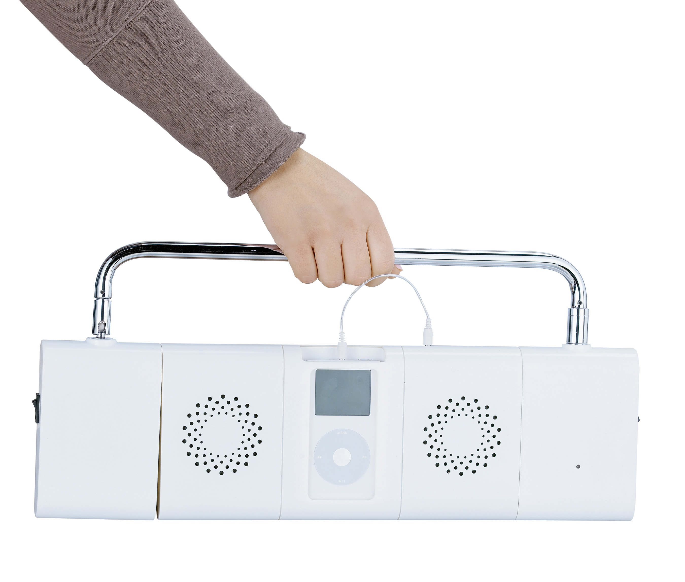 Boom Box White iLamp Docking Station