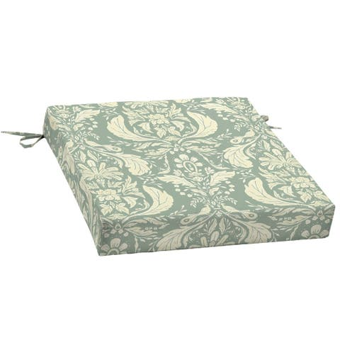 Arden + Artisans Pietro Damask Traditional Seat Pad - 21 in L x 21 in W x 4.5 in H
