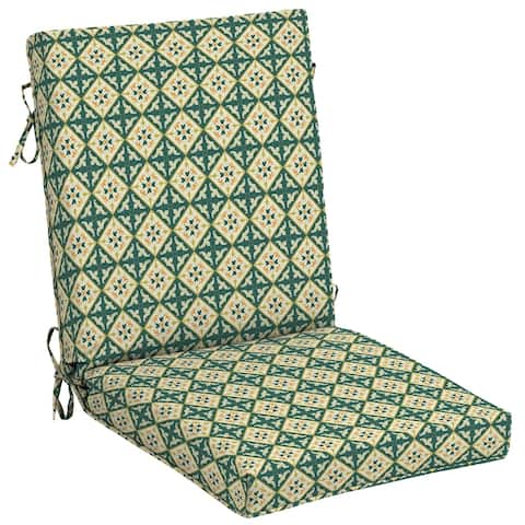 Arden + Artisans Khalid Moroccan Tile High Back Chair - 44 in L x 21 in W x 4 in H