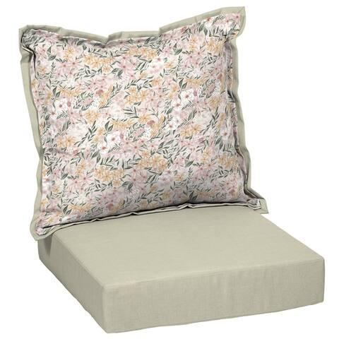 Porch & Den Mary Floral Deep Seat Cushion Set
