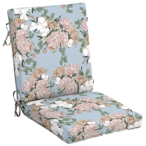 Arden + Artisans Giana Floral High Back Chair - 44 in L x 21 in W x 4 in H