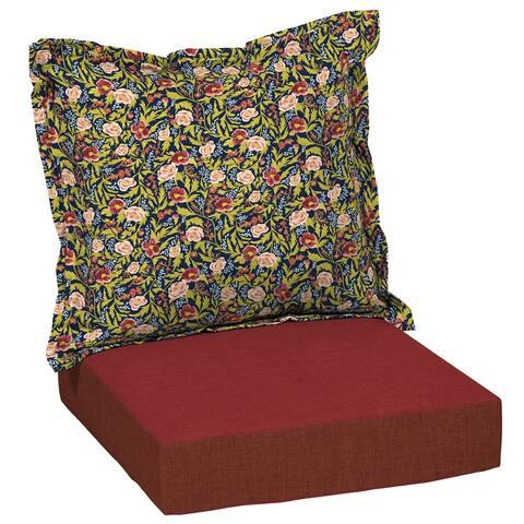 Arden + Artisans Cecelia Floral Deep Seat Set - 47 in L x 23 in W x 8 in H