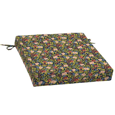 Arden + Artisans Cecelia Floral Traditional Seat Pad - 21 in L x 21 in W x 4.5 in H