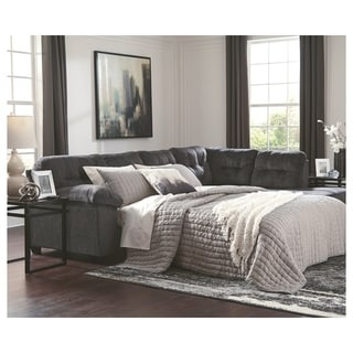 Accrington 2-Piece Sectional with Chaise & Sleeper - Granite