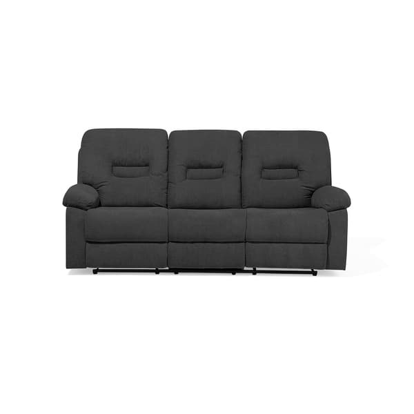 Shop 3 Seater Fabric Recliner Sofa Gray BERGEN - On Sale ...
