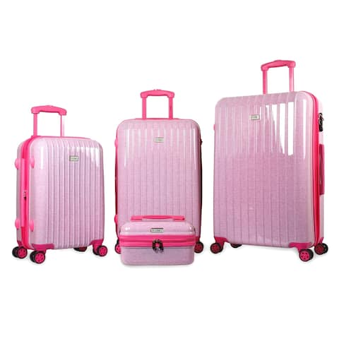 "Tanka Zuni Hardside Expandable 4-Piece Luggage Spinner Set - 20"", 24"", 28"" and Cosmetic Case"