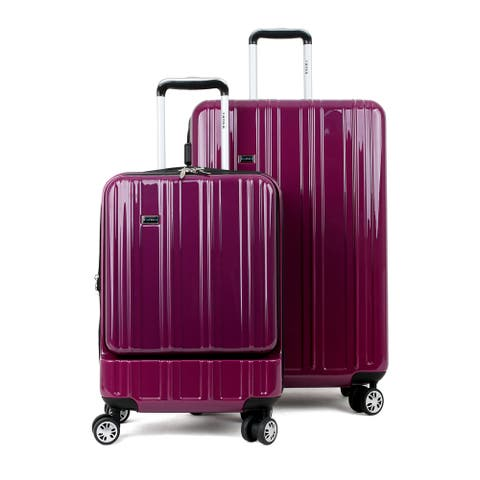 """Tanka Yuma Hardside Expandable 2-Piece Luggage Spinner Set - 19"""" (Tablet/laptop sleeve in front pocket) and 26"""""""