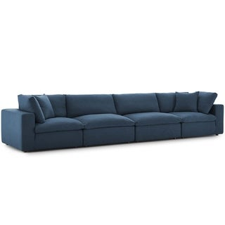 Copper Grove Hrazdan Down-filled Over-stuffed 4-piece Sectional Sofa Set