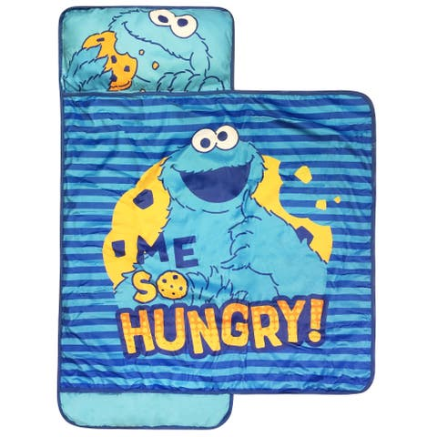 Sesame Street Me so Hungry Nap Mat- Built-in Pillow and Blanket