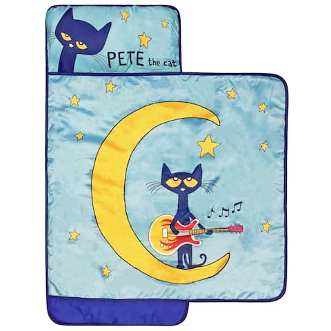 Pete the Cat Night Music Nap Mat- Built-in Pillow and Blanket