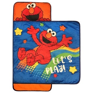 Sesame Street Let's Play Nap Mat- Built-in Pillow and Blanket