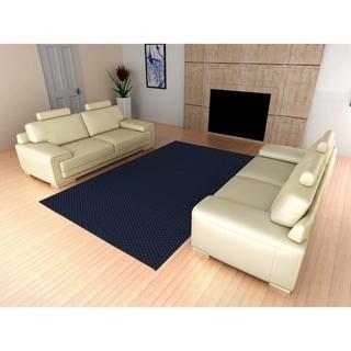 Medallion Indigo Living Room Area Rug