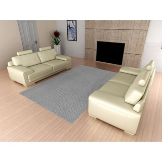 Town Square Silver Living Room Area Rug