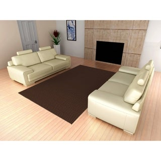 Medallion Mocha Living Room Area Rug