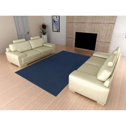 Town Square Indigo Living Room Area Rug