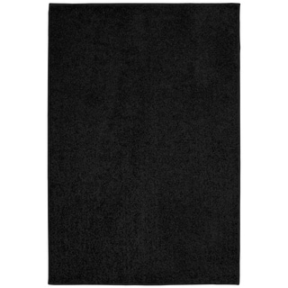 Clayton Plush Black  Living Room Area Rug - 5' x 7'