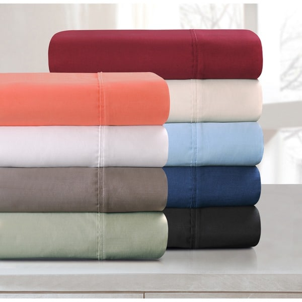 Superior Egyptian Cotton 800 Thread Count Solid Deep Pocket Bed Sheet Set. Opens flyout.