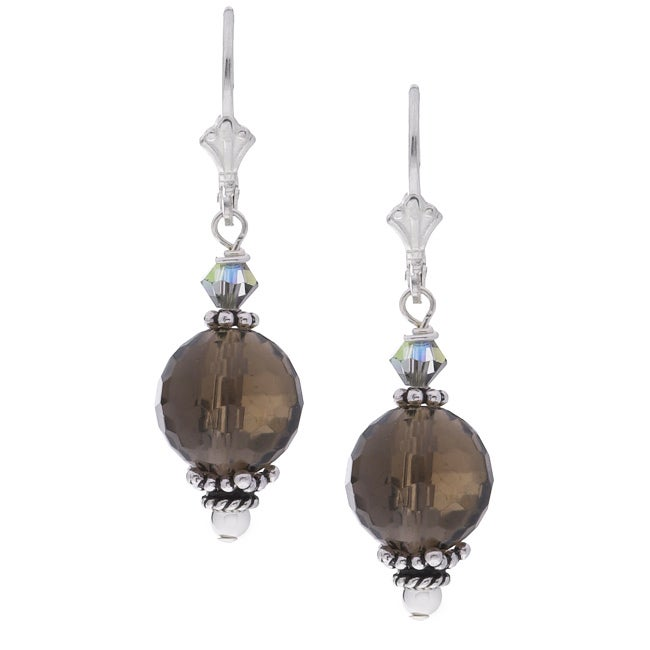 quartz products earrings spike crystal dangle clear point large