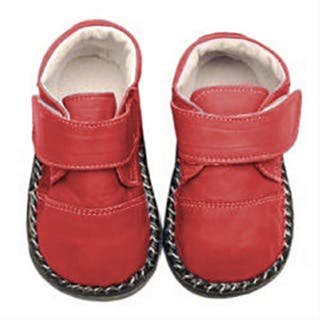 Papush Red Leather Casual Walking Infant Shoes|https://ak1.ostkcdn.com/images/products/2663009/P10861990.jpg?impolicy=medium