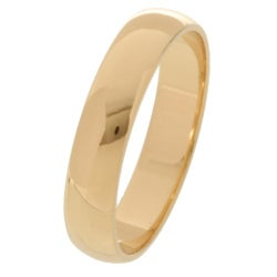 10k Yellow Gold Half-round 4-mm Wedding Band