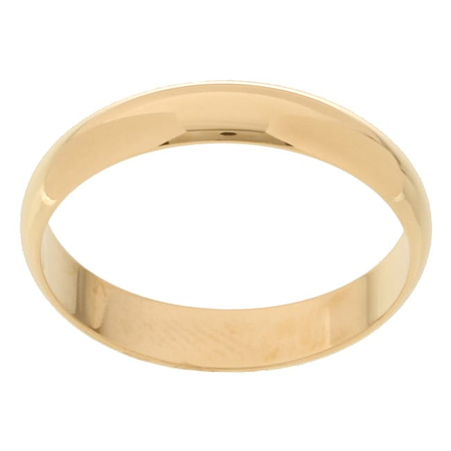 10k Yellow Gold Men's Half-round 4-mm Wedding Band - Thumbnail 0