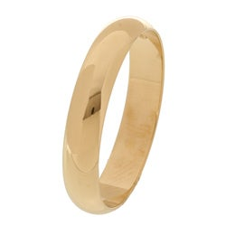 10k Yellow Gold Men's Half-round 4-mm Wedding Band - Thumbnail 1