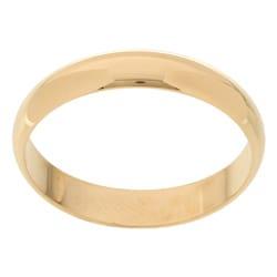 10k Yellow Gold Men's Half-round 4-mm Wedding Band