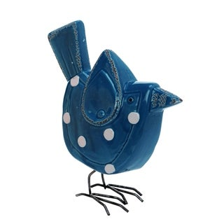 Transpac Ceramic  Blue Spring Polka Dot Bird Decor